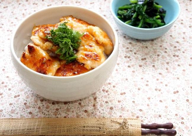 鶏むね肉 塩麹漬け味噌焼き
