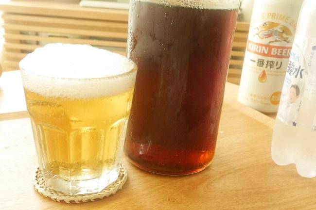 梅ジュースで子供ビール