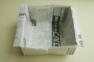 新聞紙 紙袋 折る